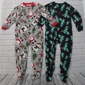 Lot of 2 Boys Full Body Footed Pajamas Carter's
